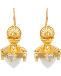 Kastur Jewels - Heritage White Opal Dome Earrings - Lyst