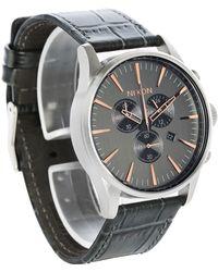 Nixon   Grey Sentry Chrono Gator Leather Watch   Lyst