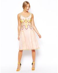 Asos Exclusive Indie Summer Embroidered Smock Dress - Lyst