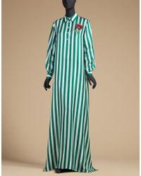 Dolce & Gabbana | Caftan In Printed Silk Twill | Lyst