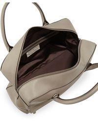Brunello Cucinelli Monilitrim Leather Zip Satchel Bag - Brown