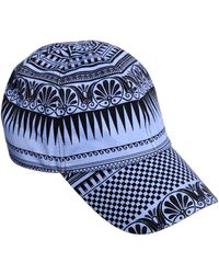 Fausto Puglisi - Printed Stretch Cotton Denim Hat - Lyst