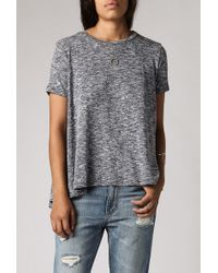 Azalea Heathered Swing Tee gray - Lyst