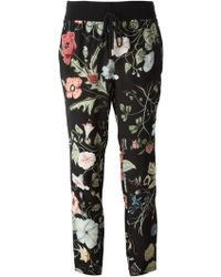 Gucci 'Flora Knight' Trousers - Lyst