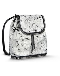 Stella McCartney Falabella Shaggy Deer Backpack gray - Lyst