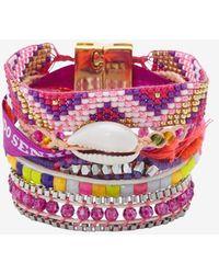 Hipanema - Fluo Bracelet Purple - Lyst