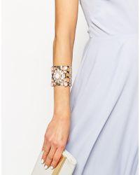 Lipsy - Stone Cuff Bracelet - Lyst