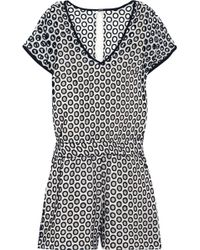 J.Crew Lizzie Broderie Anglaise Cotton Playsuit - Black