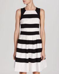 Karen Millen Dress - Graphic Stripe Lace - Lyst