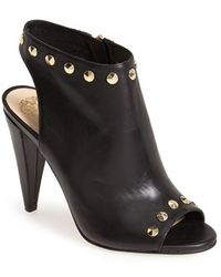 Vince Camuto 'Abbia' Leather Open Toe Sandal black - Lyst