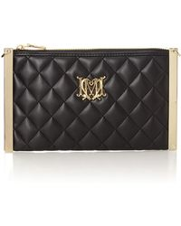 Love Moschino Black Small Quilt Clutch with Chain Bag - Lyst