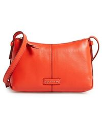 Cole Haan 'Mini Emma' Leather Crossbody Bag red - Lyst
