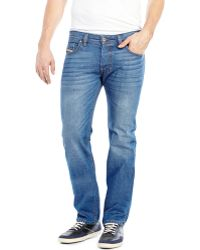 Diesel Medium Wash Safado Slim Straight Jeans - Lyst