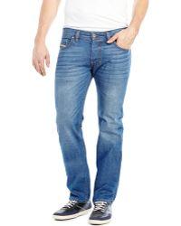 Diesel Medium Wash Safado Slim Straight Jeans - Lyst