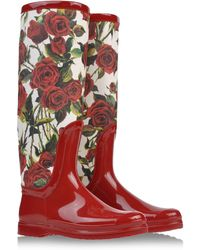 Dolce & Gabbana Rain & Cold Weather Boots floral - Lyst