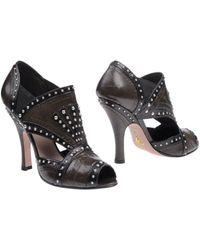 Prada Brown Shoe Boots - Lyst