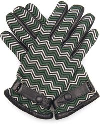 Orley | Chevron-Jacquard And Leather Gloves | Lyst