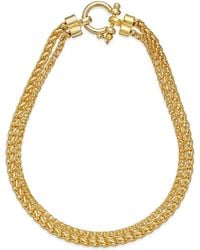 Lauren by Ralph Lauren Gold-tone Two Row Braid Chain Necklace - Lyst