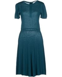 Jucca Knee-Length Dress teal - Lyst