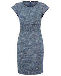 Maje Rought Bouclã© Pencil Dress - Blue