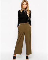 Asos Woven Utility Trousers With D-Ring - Lyst