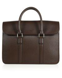 Giorgio Armani Leather Briefcase - Lyst