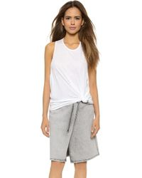 Cheap Monday Flow Tank Top - White - Lyst