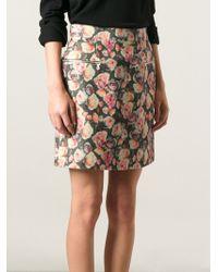 Markus Lupfer English Rose Penelope Mini Skirt - Lyst