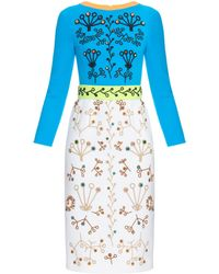 Peter Pilotto | Cari Crystal-embellished Midi Dress | Lyst