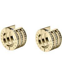 Michael Kors Pave Huggie Earrings - Lyst
