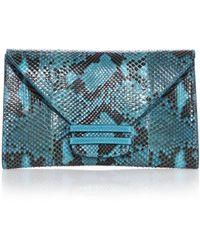 VBH Connor Python & Karung Envelope Clutch - Lyst
