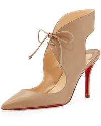 Christian Louboutin Franka Lace-up Red Sole Pump - Lyst
