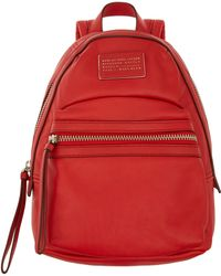 Marc By Marc Jacobs - Red Domo Leather Backpack - Lyst