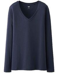 Uniqlo Supima Cotton Modal T-shirt - Lyst