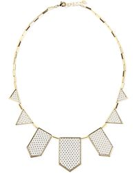 House of Harlow 1960 - Perforated Fivestation Necklace White - Lyst
