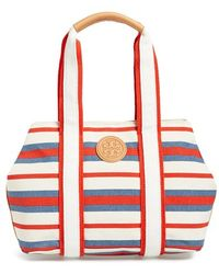 Tory Burch 'Small Robinson' Canvas Tote - Lyst