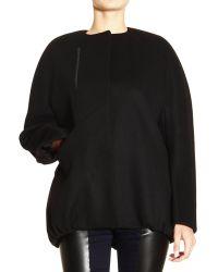 Balenciaga Coat Soft Caban Iconic Cocoon Shape Wool - Lyst