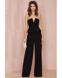 Nasty Gal Love To Love You Peplum Jumpsuit - Lyst