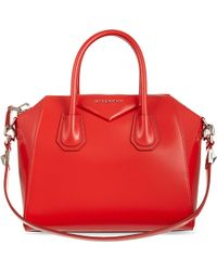 Givenchy Small Antigona Smooth Leather Tote Red - Lyst