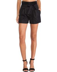 Marc By Marc Jacobs Cotton Linen Twill Shorts - Black