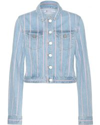 T By Alexander Wang Selvage Denim Jacket - Lyst