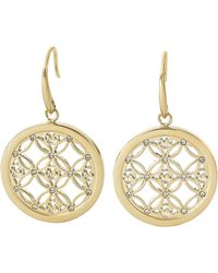 Michael Kors Gold-Tone And Glitz Small Drop Earrings - Lyst