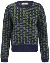 Orla Kiely - Womens Kitten Fairisle Jumper - Lyst