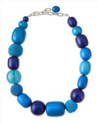 Marina Rinaldi - Lauto Beaded Collar Necklace - Lyst