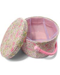 Liberty Lodden Round Sewing Box - Multicolour