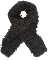Barneys New York Black Fur Scarf - Lyst