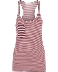 Etoile Isabel Marant Emy Striped Cottonjersey Tank - Lyst