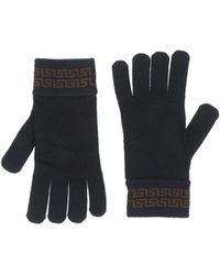 Versace Gloves brown - Lyst