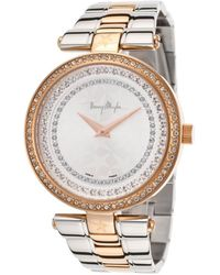 Thierry Mugler Womens Two-tone Silver Dial - Lyst