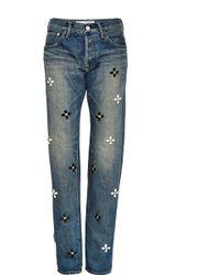 Tu Es Mon Tresor Crystal-Embellished Jeans - Lyst